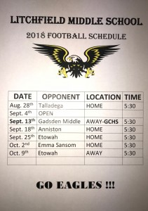 Image of 2018 Football Schedule