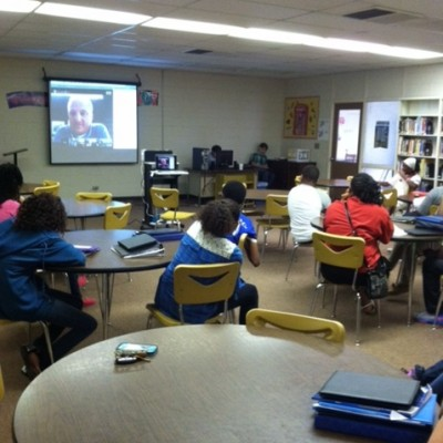 On September 10, 2014, 8th grade social studies students participated in a Google Hangout on Digital Footprints with Dean Shareski.