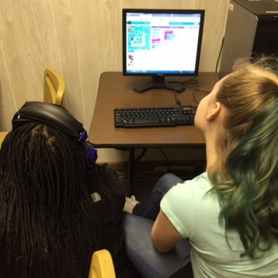 The library skills class had so much fun coding!