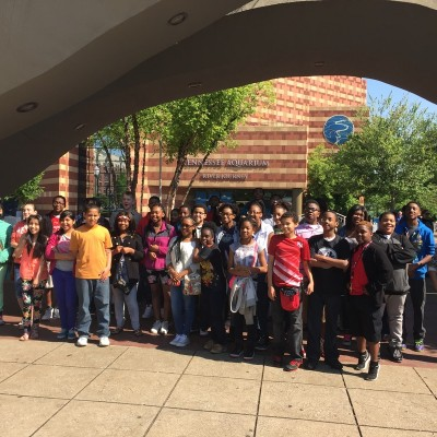 Tennessee Aquarium honor students field trip, 2015.